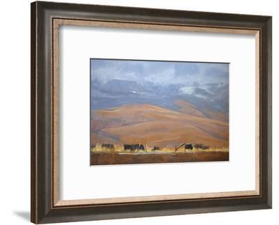 North Powder Cows-Todd Telander-Framed Art Print
