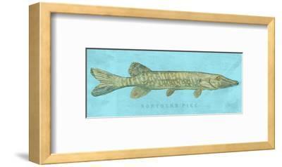 Northern Pike-John W^ Golden-Framed Art Print