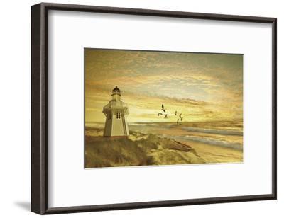 Pacific Sunset 6-Carlos Casamayor-Framed Art Print
