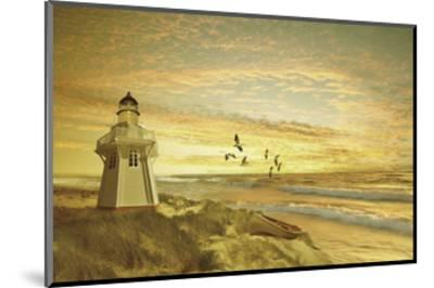 Pacific Sunset 6-Carlos Casamayor-Mounted Art Print