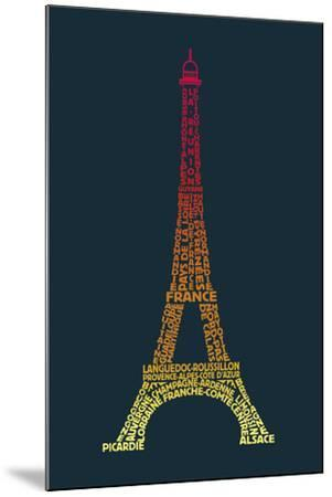 Word Play France-Tom Frazier-Mounted Giclee Print