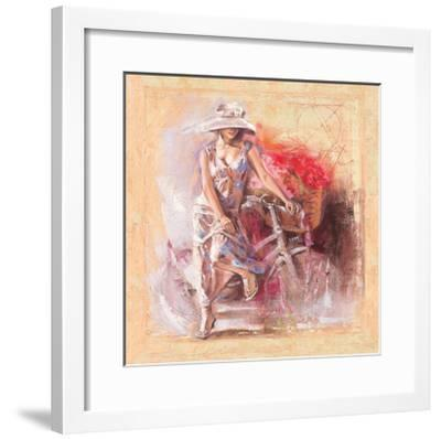 A Basket Full of Flower-Talantbek Chekirov-Framed Art Print