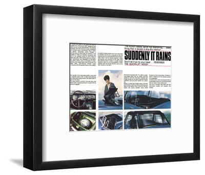 Austin Healey-Suddenly it Rains--Framed Art Print