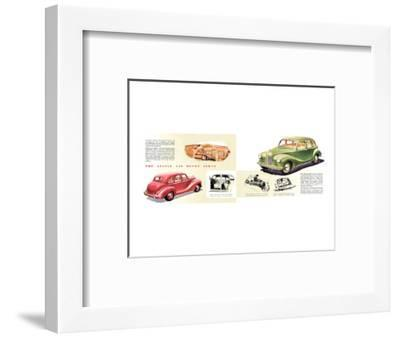 Austin A40 Devon Sedan--Framed Art Print