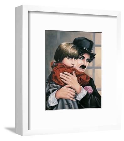 Charly Chaplin - the Kid-Renate Holzner-Framed Art Print