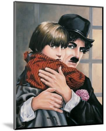 Charly Chaplin - the Kid-Renate Holzner-Mounted Art Print