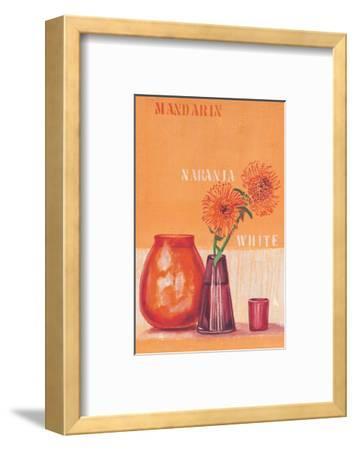 Composed in Orange-Anna Flores-Framed Art Print