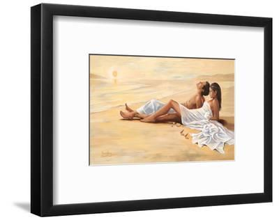 Indian Sunset Beach-Renate Holzner-Framed Art Print
