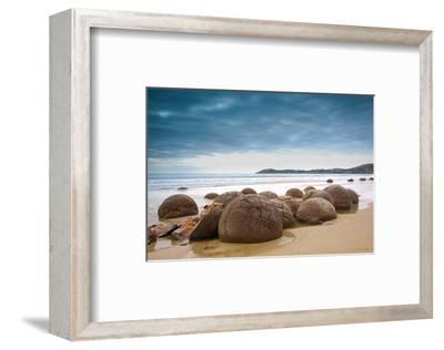 Moeraki Boulders New Zealand--Framed Premium Giclee Print