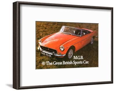 MG - Great British Sports Car--Framed Art Print