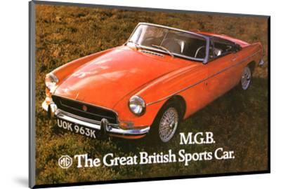 MG - Great British Sports Car--Mounted Art Print