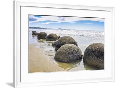Moeraki Boulders New Zealand--Framed Art Print