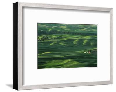 Red Barn in the Morning Light-Don Schwartz-Framed Art Print