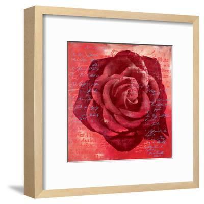 Red Rose-Anna Flores-Framed Premium Giclee Print