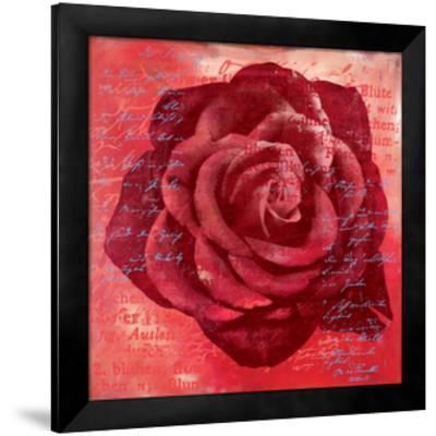 Red Rose-Anna Flores-Framed Premium Giclee Print