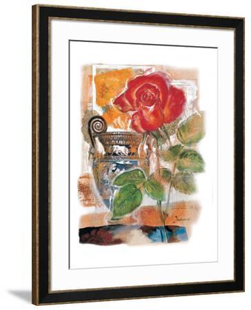 Red Rose-Joadoor-Framed Art Print