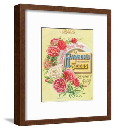 Rawson Seed 1893 Boston MA--Framed Art Print