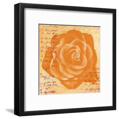 Orange Rose-Anna Flores-Framed Premium Giclee Print