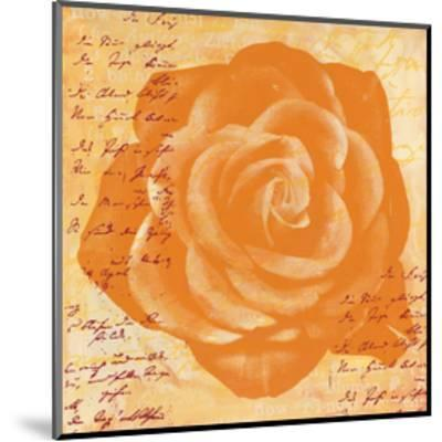 Orange Rose-Anna Flores-Mounted Premium Giclee Print