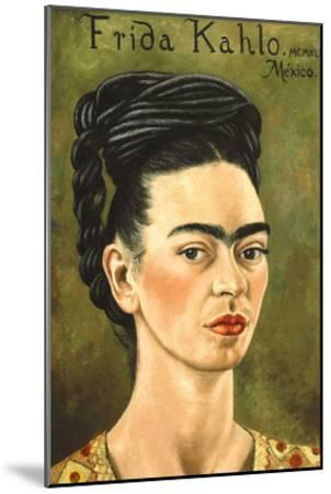 Portrait with Gold Dress-Frida Kahlo-Mounted Premium Giclee Print
