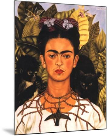 Portrait with Necklace-Frida Kahlo-Mounted Art Print