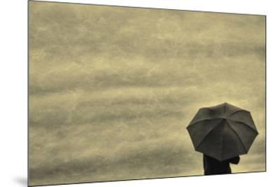 Schwartz - Little Red Umbrella-Don Schwartz-Mounted Premium Giclee Print