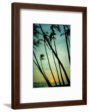 Schwartz - Tilting Palms-Don Schwartz-Framed Art Print