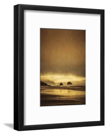Schwartz - Sea Stacks at Sunset-Don Schwartz-Framed Premium Giclee Print