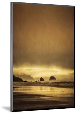Schwartz - Sea Stacks at Sunset-Don Schwartz-Mounted Premium Giclee Print