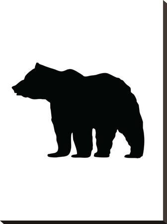 Black Bear-Jetty Printables-Stretched Canvas Print