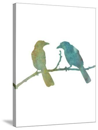 Faded Green Bird-Jetty Printables-Stretched Canvas Print