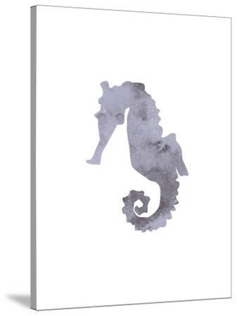 Watercolor Gray Seahorse-Jetty Printables-Stretched Canvas Print