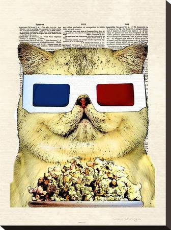 Fat Cat-Matt Dinniman-Stretched Canvas Print
