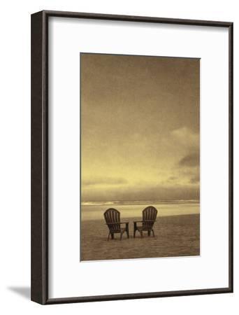 Schwartz - Two Beach Chairs-Don Schwartz-Framed Premium Giclee Print