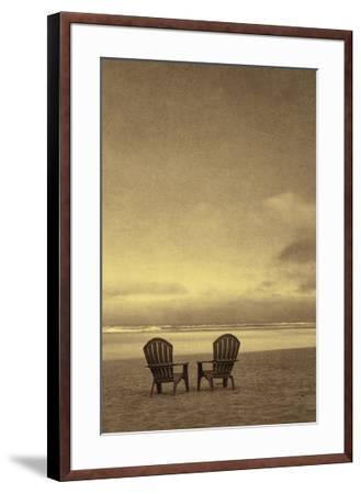 Schwartz - Two Beach Chairs-Don Schwartz-Framed Art Print