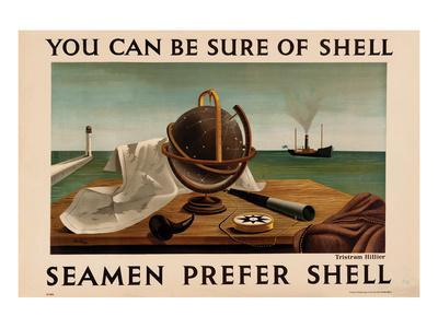Seamen Prefer Shell--Framed Art Print