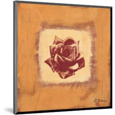 Single Rose-Anna Flores-Mounted Art Print
