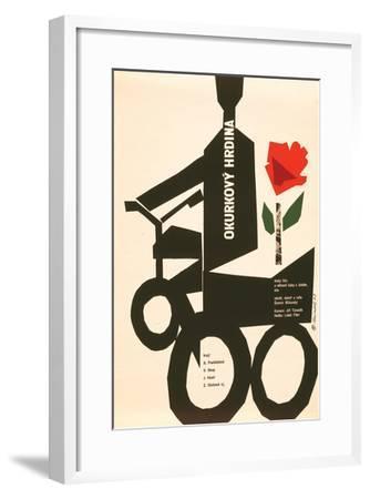 The Cucumber Hero-Okurkovy--Framed Premium Giclee Print