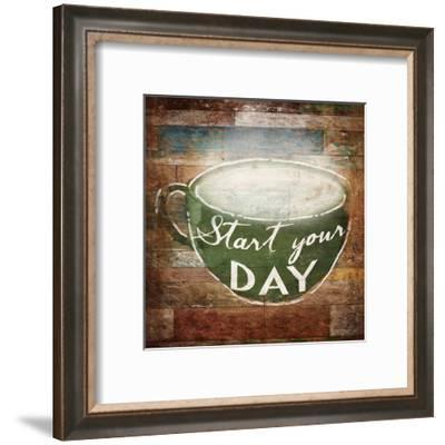 Fall With Coffee-OnRei-Framed Art Print