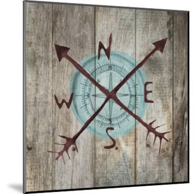 Teal Compass-Victoria Brown-Mounted Art Print