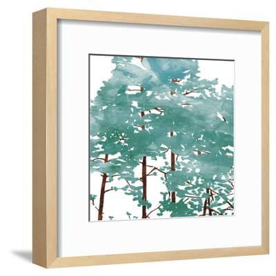 Teal Watered Trees-OnRei-Framed Art Print