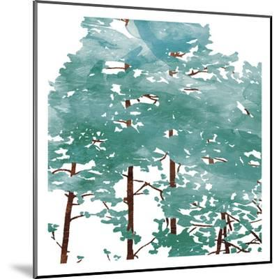 Teal Watered Trees-OnRei-Mounted Art Print