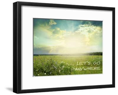 Anywhere-Taylor Greene-Framed Art Print