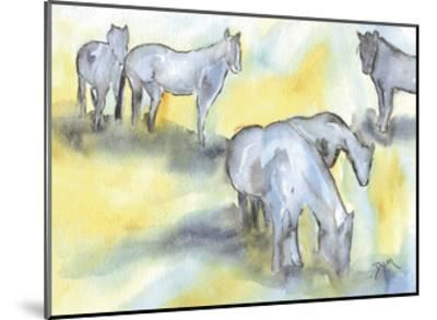 Field of Horses-Beverly Dyer-Mounted Art Print