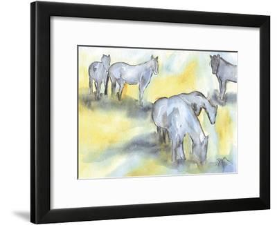 Field of Horses-Beverly Dyer-Framed Art Print