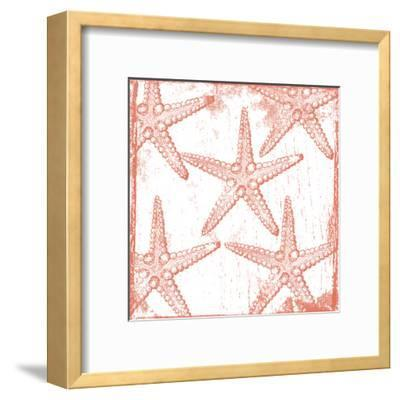 Salmon Coral Star-Sheldon Lewis-Framed Art Print