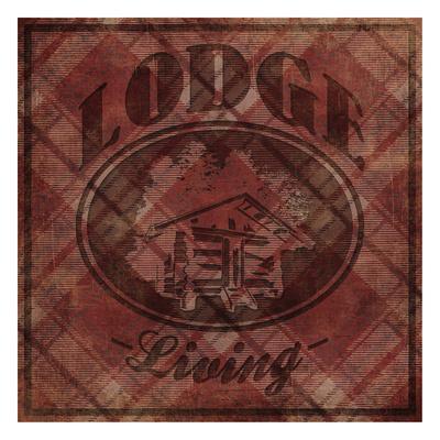 Lodge Life-Jace Grey-Framed Art Print