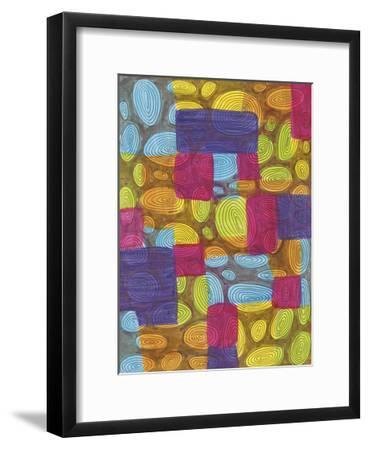 Ovals-Pam Varacek-Framed Art Print