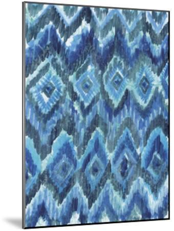 IKAT Blues-Smith Haynes-Mounted Art Print