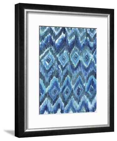 IKAT Blues-Smith Haynes-Framed Art Print